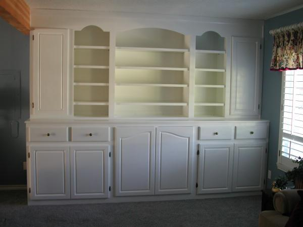 White Wall Units Custom Woodworx